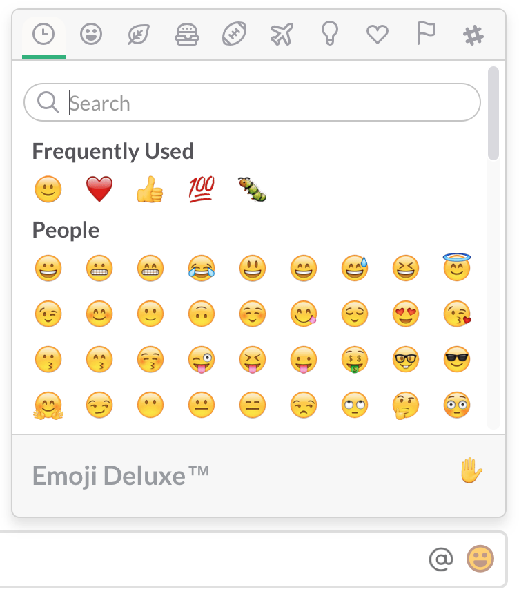 Use emoji and emoticons | Slack