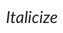 Text formatted in italics