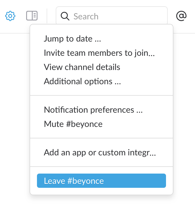 how to delete a channel on slack